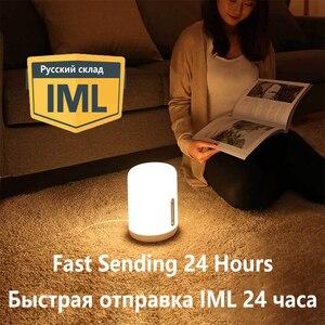Image 2 - Xiaomi Mijia Lámpara 2 Smart LED de mesa noche Bluetooth WiFi Touch Panel Control mihome APP de luz Led para Apple homeKit Siri
