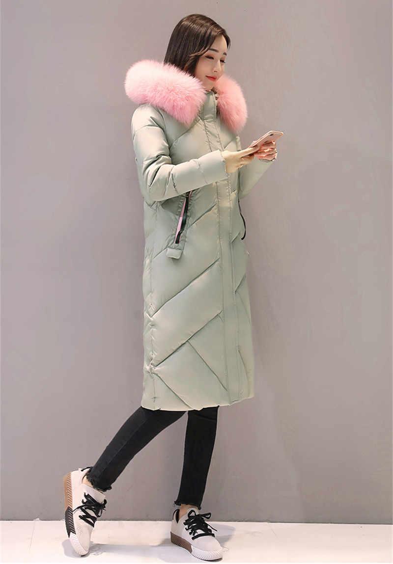 Pelliccia 2020 Parka Collare Con Cappuccio Giubbotti Imbottito Cappotto di Inverno del Cotone delle Donne Dolce Caldo Delle Donne Parka Casaco De Inverno WXF380