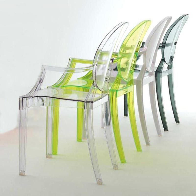 Children's Devil Chair Kindergarten Creative Stool Photography Props Transparent Plastic Baby Dining Chair Children's Room Chair