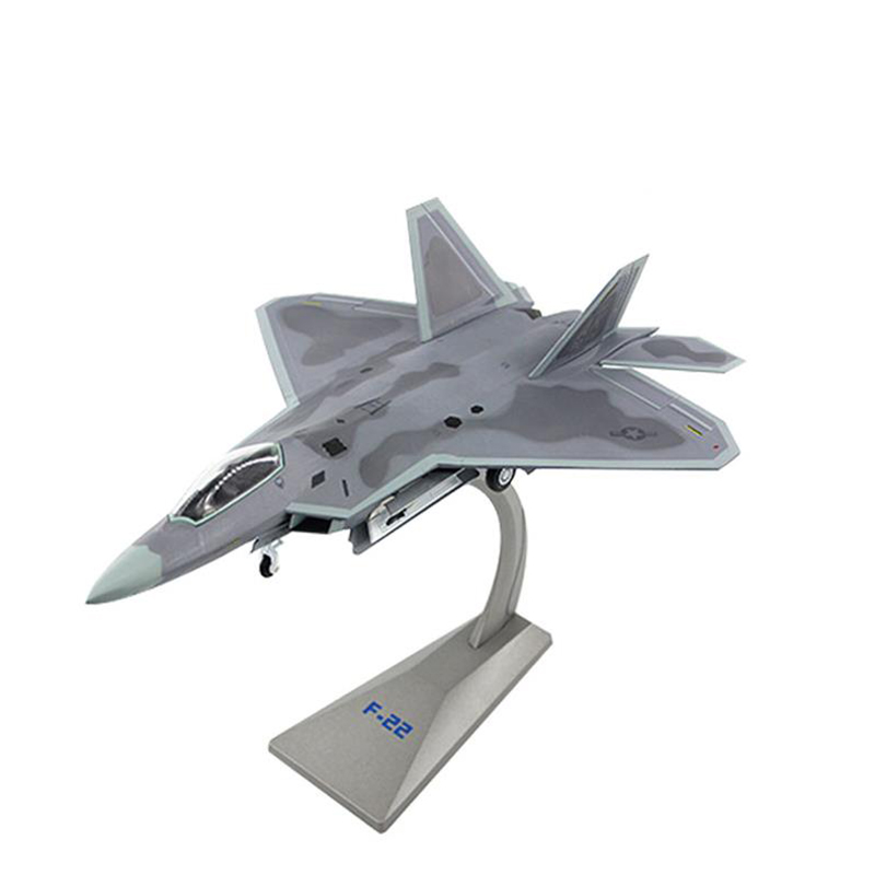 JASON TUTU Aircraft model 1/72 Scale Alloy Fighter F-22 US Air Force Aircraft F22 Raptor Model Planes