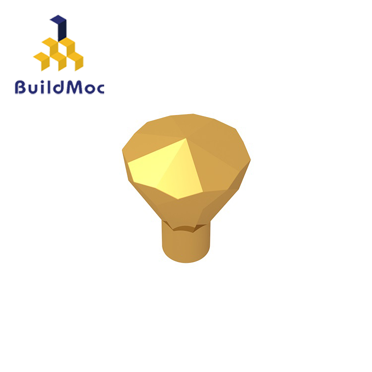 BuildMOC 30153 Rock 1 X 1 Jewel 24 Facet For Building Blocks Parts DIY Educational Tech Parts Toys