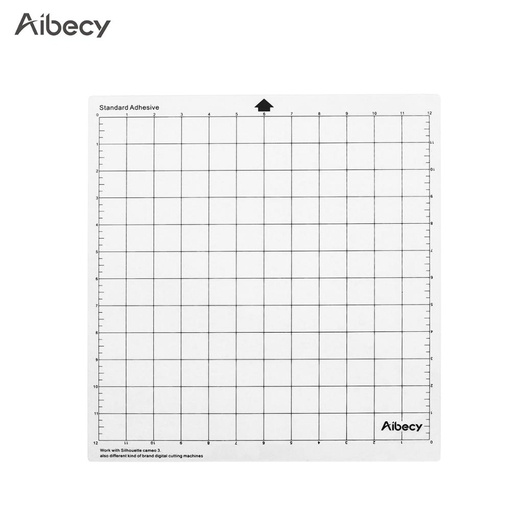 1pcs Aibecy Cutting Mat 12In Measuring Grid Repalcement Translucent PP Material Cutting Pad Adhesive Mat DIY Tool Cutting Board