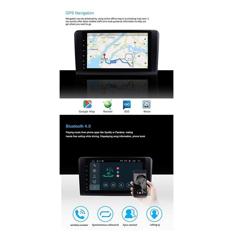 9 pouces Android 9.0 2 + 16G voiture GPS Navigation 4 Core multimédia lecteur Bluetooth Autoradio pour mercedes-benz GL ML classe W164 ML35 - 6