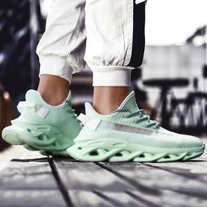 Image 5 - Heidsy מותג גברים סניקרס 2020 חדש אופנה אור משקל אוויר רשת נעליים יומיומיות אביב להב גברים נעלי עיצוב Zapatos דה Hombre