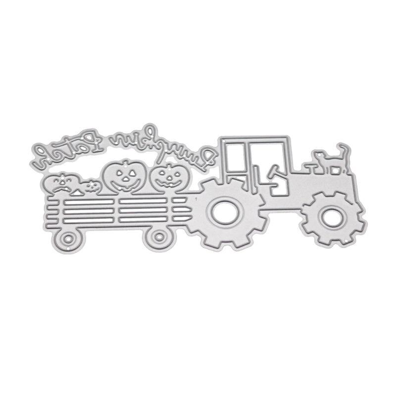 Camion chat métal matrices de découpe pochoir Scrapbooking album de bricolage timbre papier carte gaufrage décor artisanat - 2