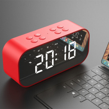 Multifunctional Portable Bluetooth Speaker Subwoofer Wireless Stereo Speaker Supports Mobile Computer TF AUX Mirror Alarm Clock wireless bluetooth speaker sc208 computer mini dual speaker portable small stereo car subwoofer support tf card usb disk