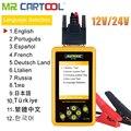 Mr Cartool BT460 тестер автомобильного аккумулятора 12 В 24 в анализатор ячеек диагностический инструмент транспортного средства свинцово-кислотны...