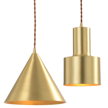 Nordic Pendant Light  Brass color Pendant Light Metal Handing Lamp Iron Pendant Light Fixture Brass Pendant lamp for Living Room artpad nordic multi color ceiling pendant lamp two three heads e27 metal lamp shade led dining room modern pendant light fixture