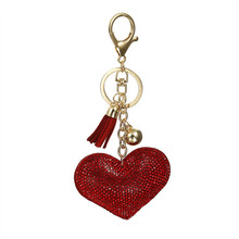 Crystal Heart Keychain Women Fashion Leather Charm Gifts Key Ring Love Tassel Key Chain crystal stovall gifts of love
