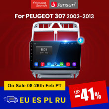 Junsun V1 pro 2G+32G Android 10 For PEUGEOT 307 sw 307 2002-2013 Car Radio Multimedia