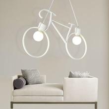 LED Vintage Bicycle  Pendant Light Living Room Iron Luminaire Pendant lamps 90-260V Restaurant Cafe Industrial Kitchen Hanglamp