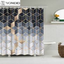 YOMDID Marble Pattern Bath curtain Waterproof Shower Curtains Geometric Bath Screen Printed Curtain for Bathroom Gift Navidad(China)