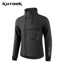 Sportswear Bicycle Running KUTOOK Clothing Shell-Jacket MTB Hiking Outdoor Winter Male