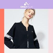 ONLY Women's Letter Print Striped Spliced Sweatshirt | 12019