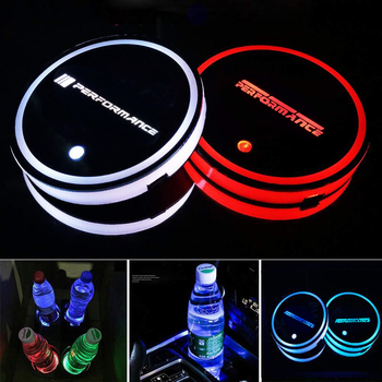 Car Led Atmosphere Light UBS Colorful Water Cup Holder For BMW M E46 E36 E34 F10 E90 F30 E60 E53 E30 E92 E87 image