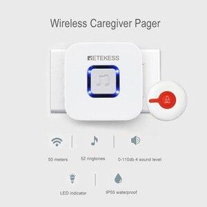 Image 3 - RETEKESS Senza Fili Sistema di Chiamata Pager Infermiera Medica di Avviso di Chiamata Paziente Sistema di Aiuto Per La Casa di Cura/ospedale Pulsante di Chiamata/ricevitore