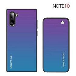 Nota 10 Wireless Caso Carregador de Bateria Para Samsung Galaxy Note 10 Mais Fino Banco Do Poder à prova de choque de vidro Temperado tampa De Carregamento