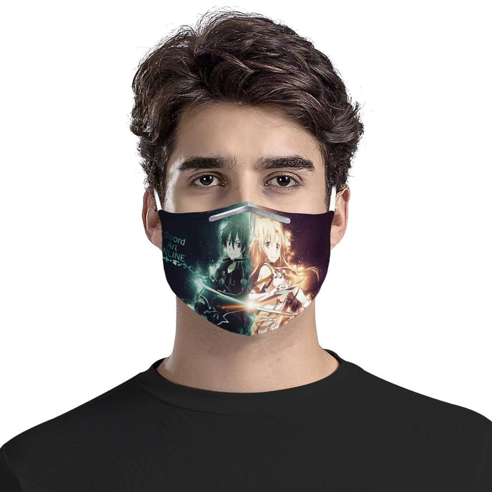 Sword Art Online Reusable Mouth Face Cover Comfortable Anti-Dust Anti-saliva Anti Infection Splash-proof Anti-droplets