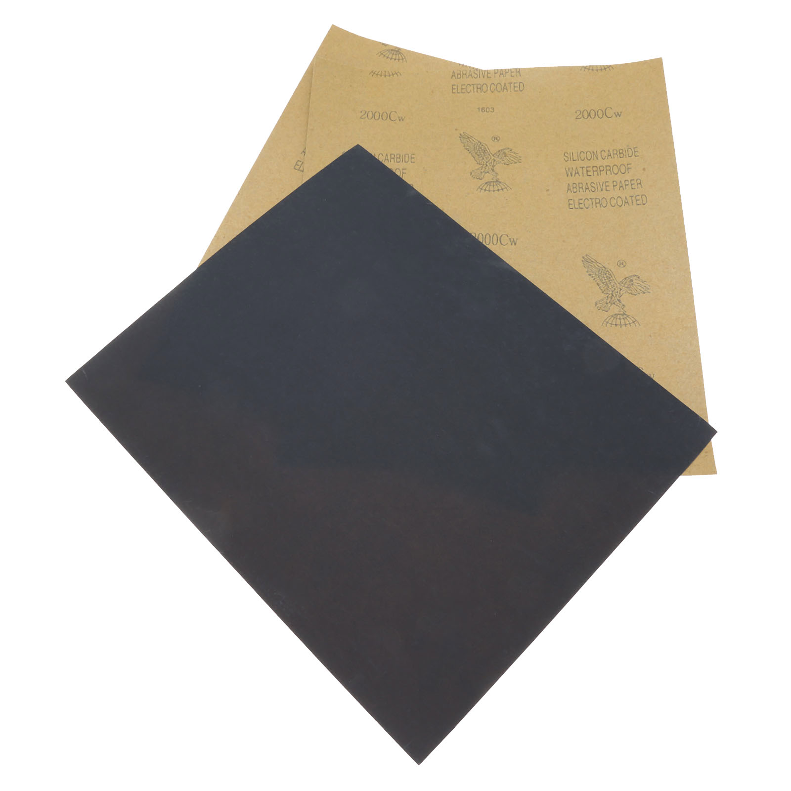 Dophee 3 Sheet Sandpaper Waterproof Abrasive Paper Sand Paper Silicone Carbide Polishing Grinding Wet/dry Tool 2000 Grit 28*23cm