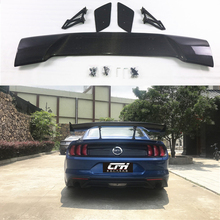 GT Style Carbon Fiber Rear Trunk Spoiler Wing Fit For Ford Mustang Coupe 2015 - UP