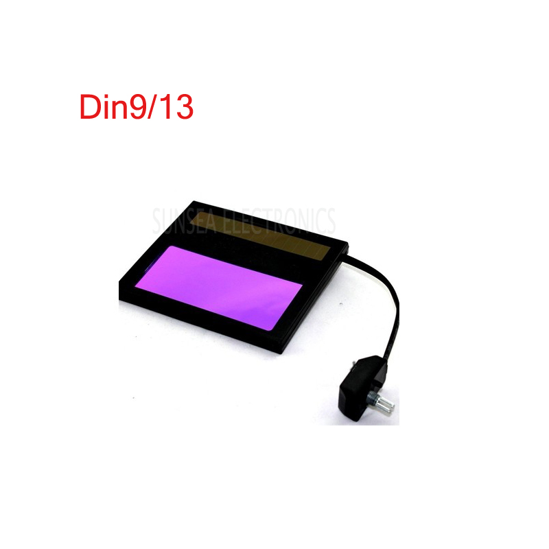 Solar Auto darkening welding Hood mask LCD FILTER lens glass DIN 9/13 welding face Shields out lens image