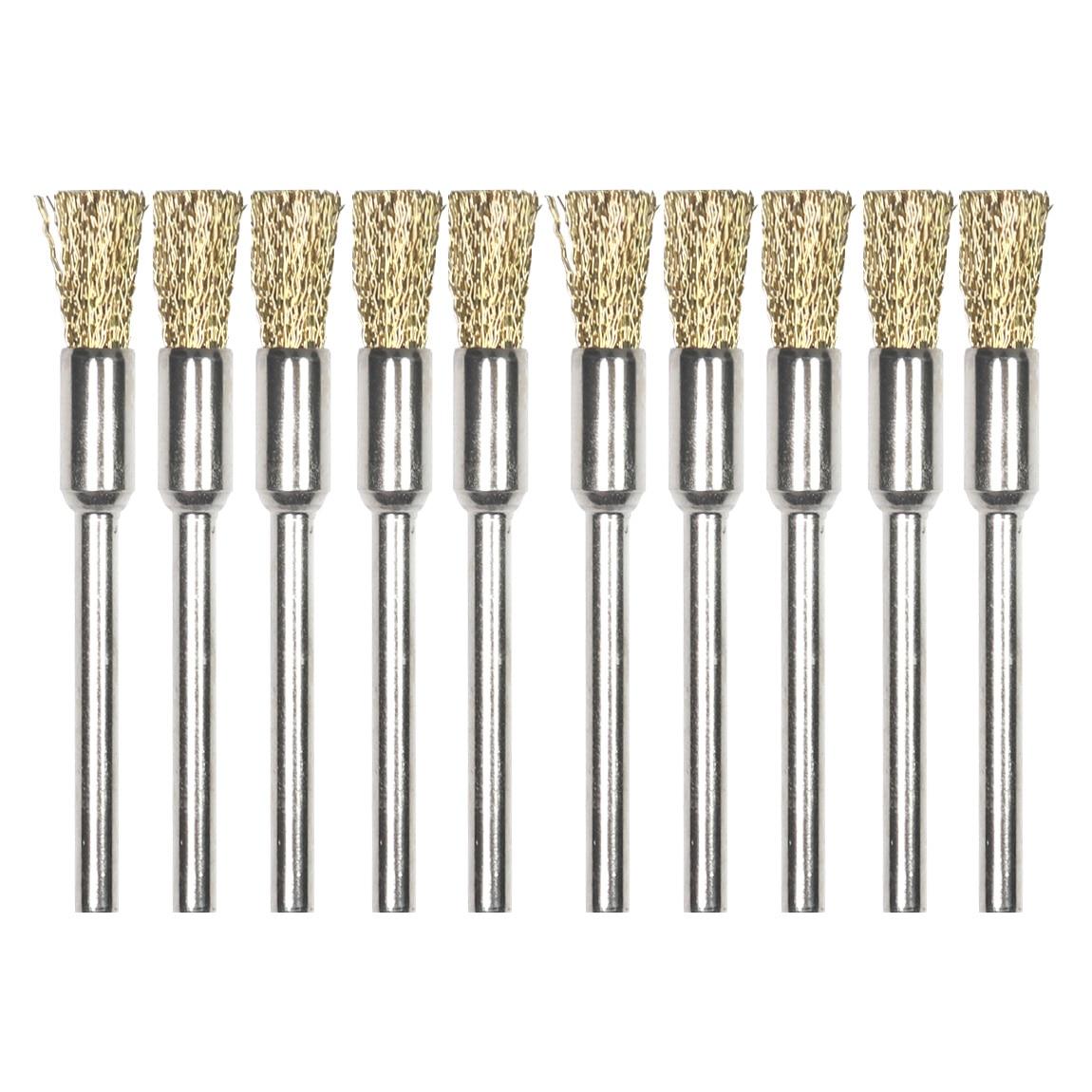 5pc Brass Wire Wheel Brush Abrasive Cleaning Rubbing Grinding Dremel Drill Bit