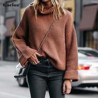 Gacloz Pullover Sweater Women Jumper Clothing Turtleneck Sweater Women Winter Knitted Sweaters Pull Femme Coltrui Truien Dames