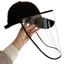 56-60cm Head Circumference Anti Spitting Protective Hat Dustproof Baseball Cap With Detachable Faces Shield For Men Women