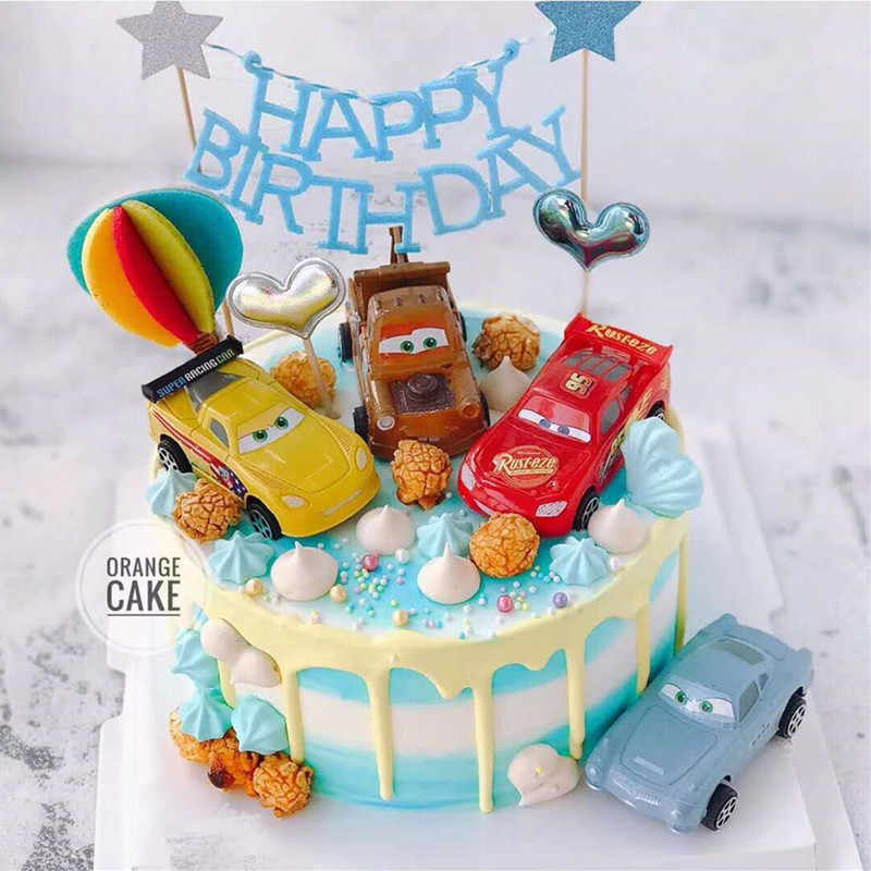 Car General Mobilization 4 Pieces in a Set Decoration McQueen Warrior Toy Car Decoration Car Birthday Cake Scenario Decoration