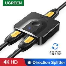 Ugreen HDMI Splitter 4K HDMI przełącznik dla Xiaomi Mi Box dwukierunkowy 1x 2/2x1 Adapter przełącznik HDMI 2 w 1 wyjście dla PS4 HDMI przełącznik