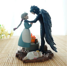 Howls Moving Castle Howl&Sophie Classic PVC Action Figure Model Toy Collection Anime Figure Toys Doll Kids Gifts10cm In Box
