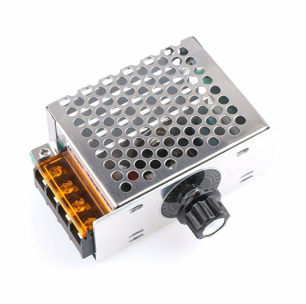 4000W 220V AC SCR Voltage Regulator Motor Speed Controller Dimmers Electronic Volt Regulator Dimmer Thermostat Regulator