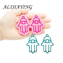 Shine Inside Resin Mold Hamsa Hand Earrings Silicone Moulds DIY for Epoxy Resin Jewellery