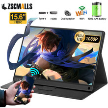 15.6 wifi sem fio bateria portátil monitor airplay gamer para iphone huawei xiaomi telefone gaming ps4 interruptor xbox computador monitor