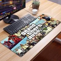 Grand Theft-alfombrilla para ratón GTA XXL para Gaming, Accesorios para ordenador, teclado, portátil, escritorio