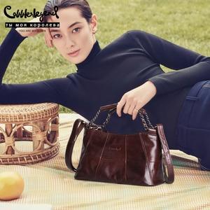 Image 2 - Cobbler 전설 정품 가죽 럭셔리 정통 핸드백 디자이너 Crossbody 가방 여성 숄더 토트 백 브랜드 Bolsos Luxuosas