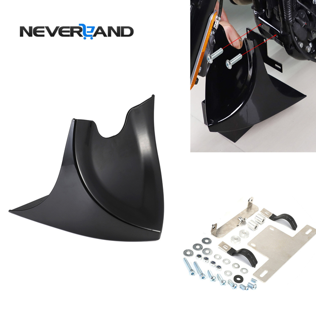 Motorcycle Lower Front Spoiler Air Dam Fairing Cover For Harley Sportster 883 1200 2004 2018 Fatboy Softail Touring Glide Dyna
