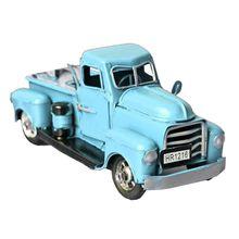 Modelo de camión de metal Vintage con rueda móvil Decoración de mesa de Navidad juguete de regalo para niños 090B