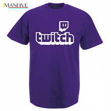Twitch TV T-shirt - Purple Gaming Top Gamer Tee Fathers Day Fan Gifts T-Shirt Short Sleeve pride t shirt men Unisex New Fashion