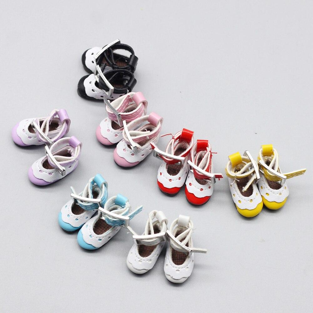 2,7 см кукольная обувь из ПУ для 1/6 blyth Azone OB23 OB24 модные кружевные туфли, носки