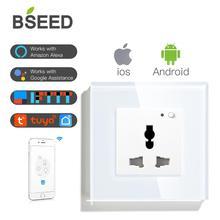 BSEED, Wifi, многофункциональная розетка, настенная розетка, умная розетка, черный, белый цвет, глоден, кристалл, панель, 13А, розетка для умного дома