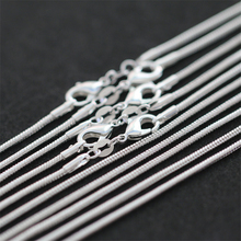5pcs/lot 2mm Snake Chain Necklaces For Man Women 16-24 inch Silver Necklace Collier Chains Fashion Jewelry Accesories Bijoux pure 925 silver necklaces for women key pendant necklace 2mm ball chain collier femme choker fashion jewelry accesories bijoux