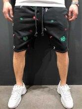 2020 verão calções masculinos casual solto cortadas calças calças calções de desporto solto malha reta casuais curtas de algodão