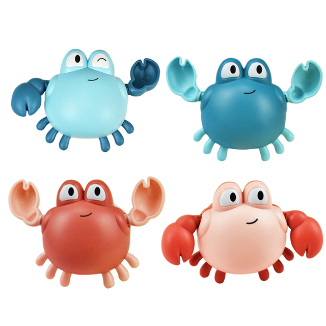 1 PCS Cartoon Bath Toys Animal Tortoise Crab Classic Baby Water Toy Infant Swim Turtle Wound-Up Chain Clockwork Toy for Children