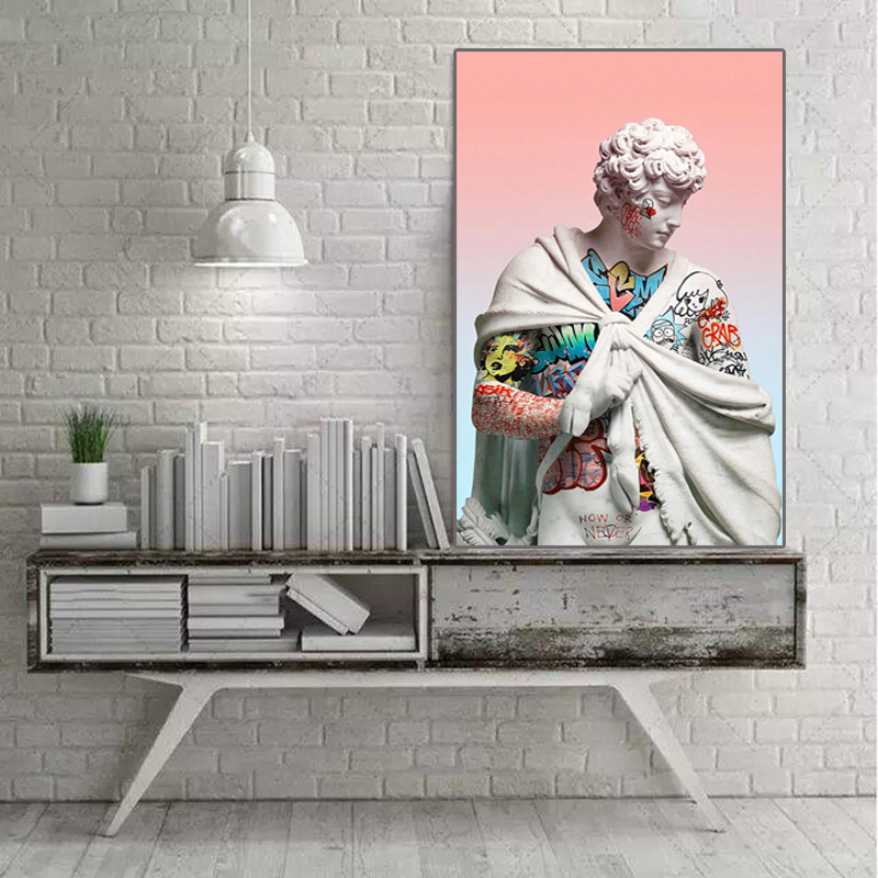 David sculpture art poster abstract painting home sitting room adornment wall canvas art images