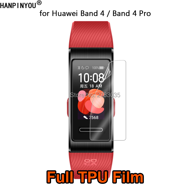 For Huawei Band 4 Band4 Pro Wrist Smart Bracelet Clear Full Cover Soft TPU Hydrogel Film Screen Protector (Not Tempered Glass)