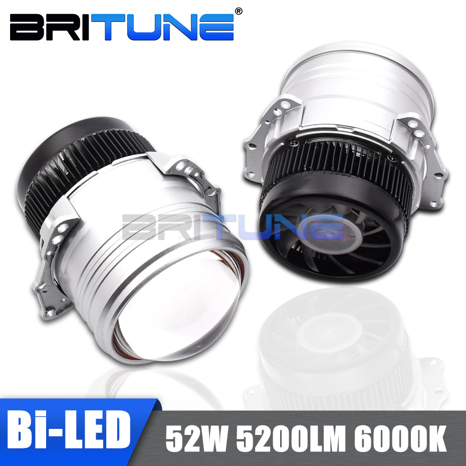 Headlight Projector Lenses Automobiles-Kit Led-Bulb Car-Accessories Tuning-Style 6000K title=