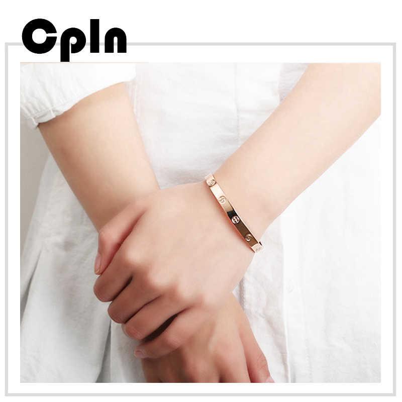 Cpln ใหม่แฟชั่นทอง/Silver Alloy สร้อยข้อมือผู้หญิงเรียบง่ายป่าเครื่องประดับสร้อยข้อมือ