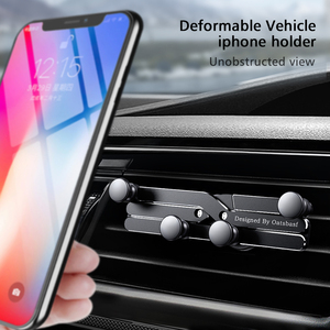 Image 2 - Yerçekimi braketi deforme araba telefon tutucu evrensel araba yerçekimi tutucu cep telefon standı iPhone Xr Xs Max Xiaomi Huawei