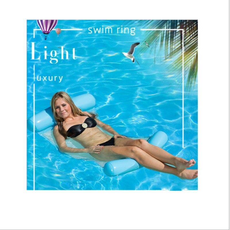 Надувной гамак для воды складной летний плавательный матрац для бассейна вечерние шезлонги
